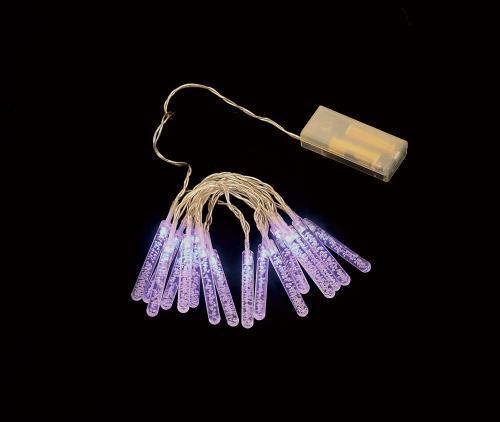 Ghirlanda luminoasa decorativa cu turturi 16 LED-uri albastre cablu transparent WELL [0]