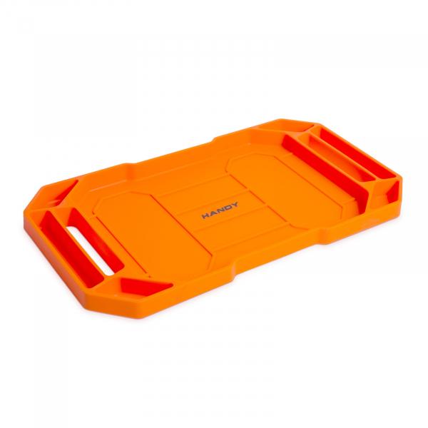 HANDY - Tavă cauciuc pentru unelte, cu compartimente şi mâner - 53 x 29,5 x 3,5 cm 0