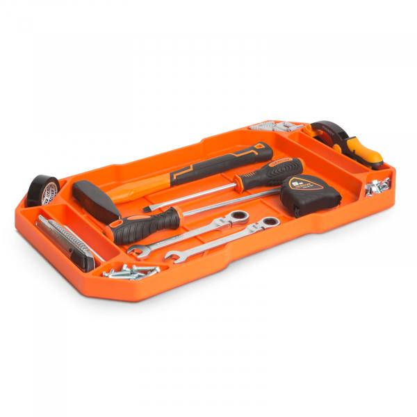 HANDY - Tavă cauciuc pentru unelte, cu compartimente şi mâner - 53 x 29,5 x 3,5 cm 2