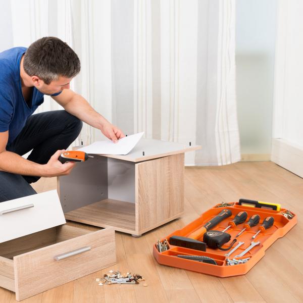 HANDY - Tavă cauciuc pentru unelte, cu compartimente şi mâner - 53 x 29,5 x 3,5 cm 3