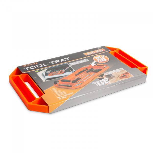 HANDY - Tavă cauciuc pentru unelte, cu compartimente şi mâner - 53 x 29,5 x 3,5 cm 5