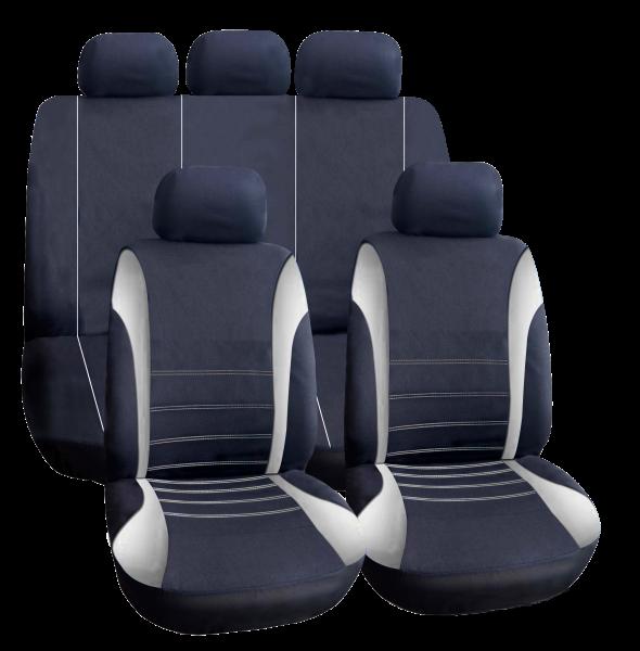 Set huse auto universale, culoare gri, pentru 5 scaune 0