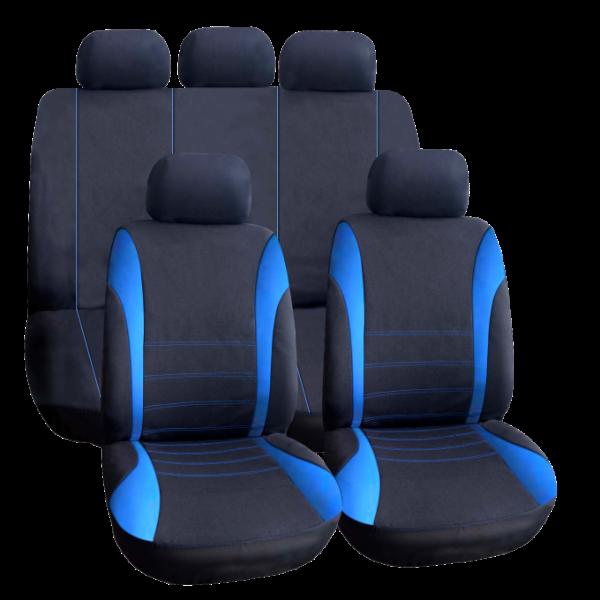 Huse Scaune Auto Universale - insertie culoare albasatru 0