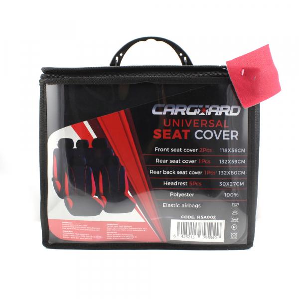 Huse scaune auto universale - Red / culoare rosie 1