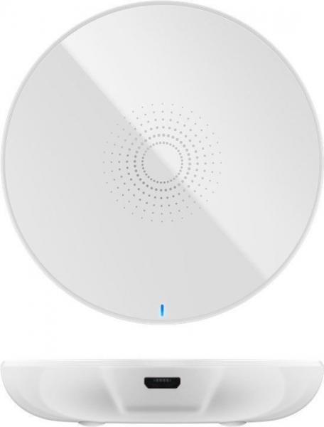 Incarcator fara fir wireless (5 W), alb- pentru telefoane inteligente si dispozitive standard QI [0]