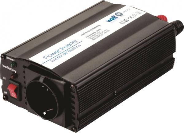 Invertor de tensiune 12V -> 220V, USB, 300W, Well 0
