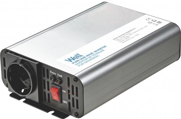 Invertor de tensiune 12V -> 230V, 600W Well 0