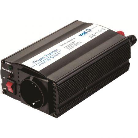 Invertor de tensiune 24V -> 220V, USB, 150W, Well [0]