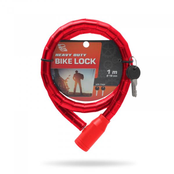 Lacăt pt. bicicletă tip role de oţel Ø18 mm 3