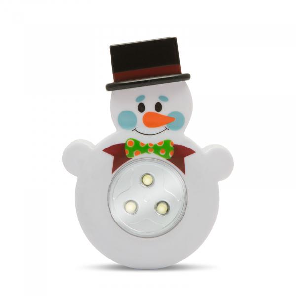 """Lampă de veghe cu buton, model """"Om de zăpadă"""" 0"""
