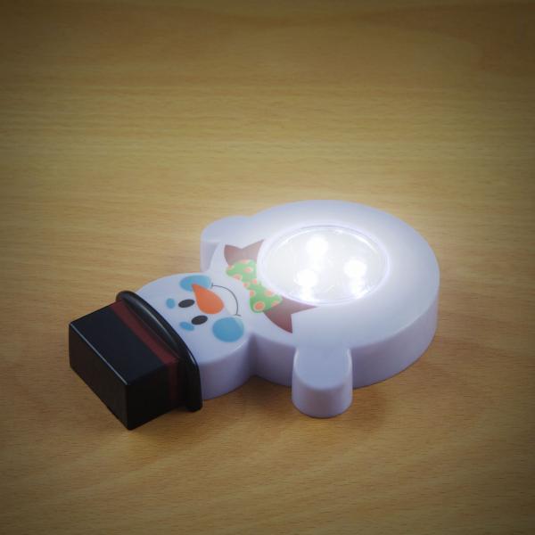 """Lampă de veghe cu buton, model """"Om de zăpadă"""" 1"""