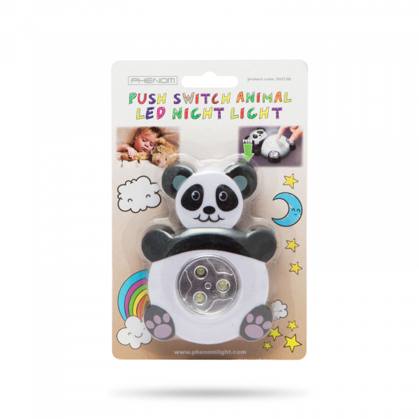"""Lampă de veghe cu buton, model """"Panda"""" 2"""