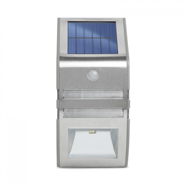 Lampă solară LED - cu senzor de mişcare - alb rece - 170 x 78 mm 3