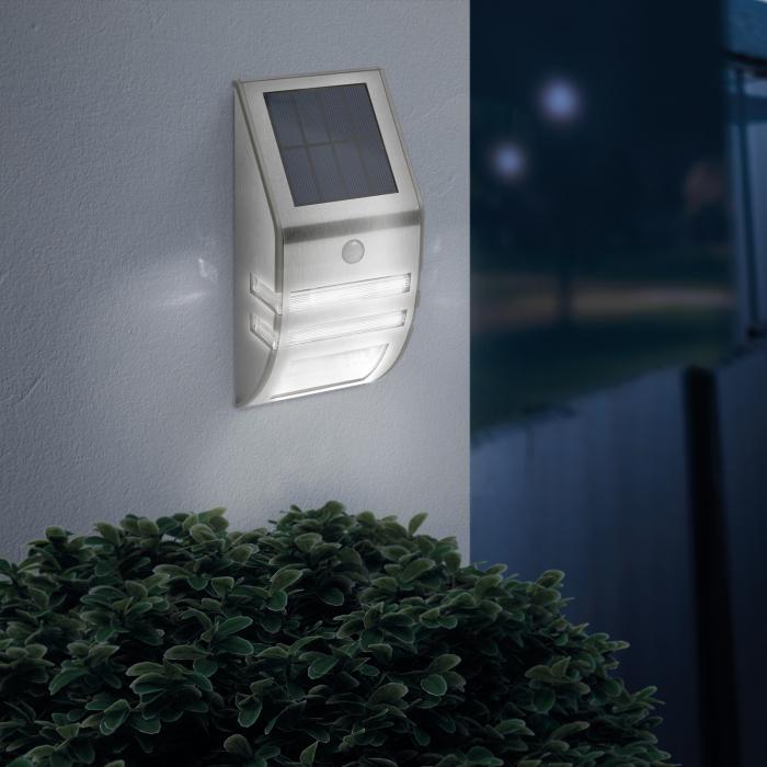 Lampă solară LED - cu senzor de mişcare - alb rece - 170 x 78 mm 1