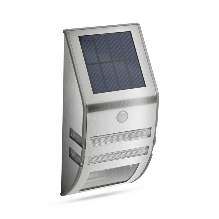 Lampă solară LED - cu senzor de mişcare - alb rece - 170 x 78 mm 0