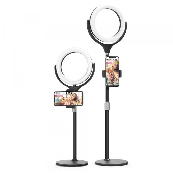 Lampa foto circulara LED BlitzWof BW-SL4 Make up Profesionala, Ring Light 64 Leduri Lumina Rece si Calda Tip Inel 2