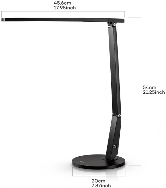 Lampa de birou cu LED TaoTronics TT DL10  incarcare USB  4 culori de lumina  600 lumeni 6