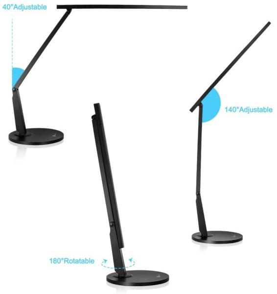 Lampa de birou cu LED TaoTronics TT DL10  incarcare USB  4 culori de lumina  600 lumeni 5