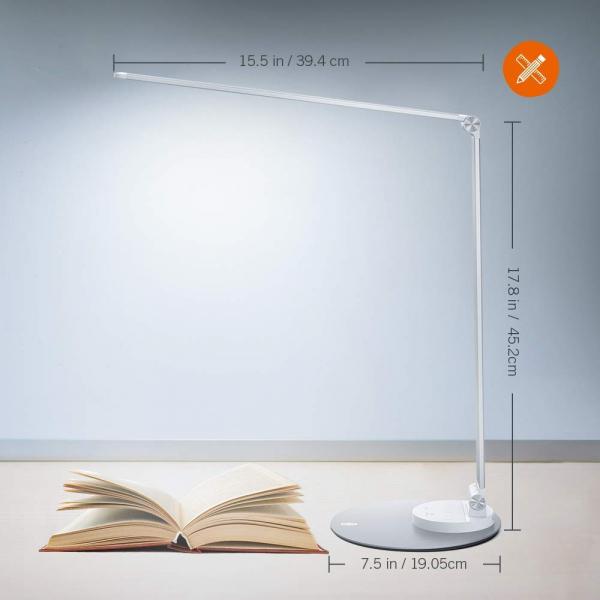 Lampa de birou cu LED TaoTronics TT-DL22, incarcare USB, 6 niveluri de luminozitate - Silver 4