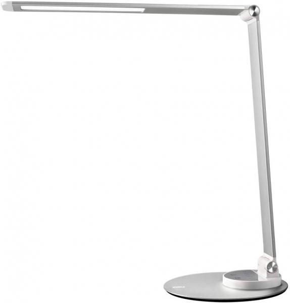 Lampa de birou cu LED TaoTronics TT DL66 cu incarcare USB si 6 niveluri de luminozitate Silver 0