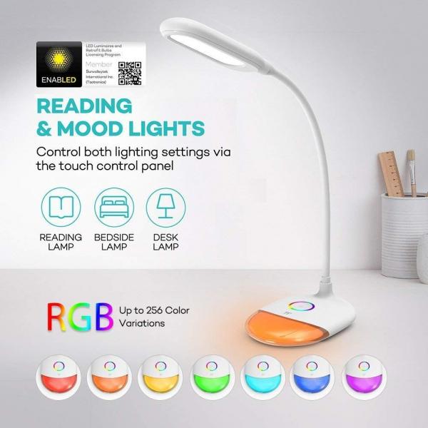Lampa de birou LED TaoTronics TT DL070 control Touch  Protectie ochi  7W  Acumulator incorporat 1