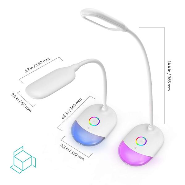 Lampa de birou LED TaoTronics TT DL070 control Touch  Protectie ochi  7W  Acumulator incorporat 3