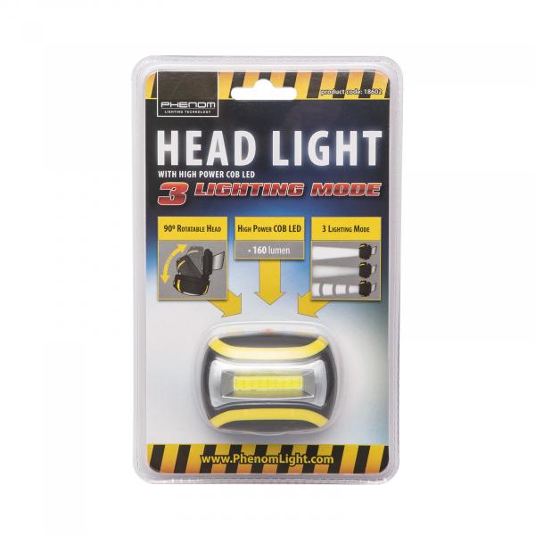 Lampa de cap, cu COB LED - utila pentru ciclism, speologie, reparatii auto, pescuit, camping [3]