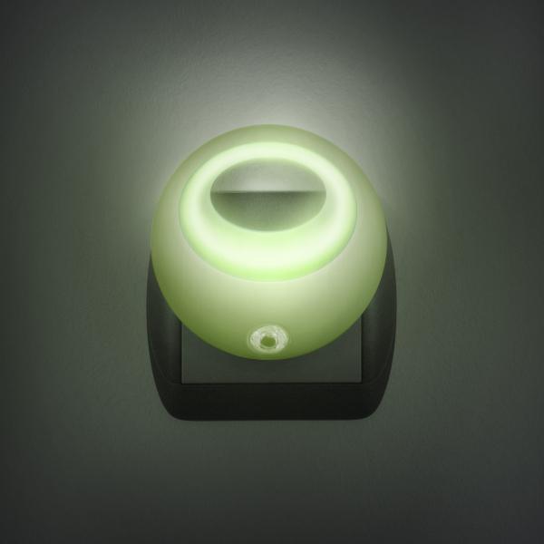 Lampa de veghe cu LED si senzor de lumina - verde [0]