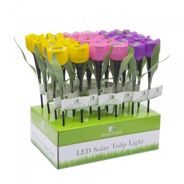 Lampă solară pentru grădină cu LED - model lalea 4