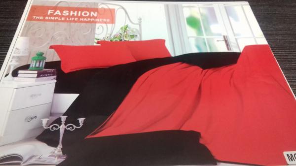 Lenjerie de pat in doua culori rosu si negru din finet MC-5000 0