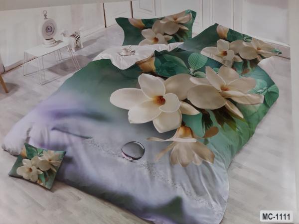 Lenjerie de pat 3D doua persoane model floral MC-1111 0