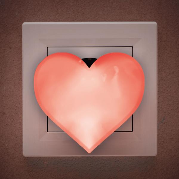 Lumina de veghe, lumina de noapte model inima (rosu) [0]