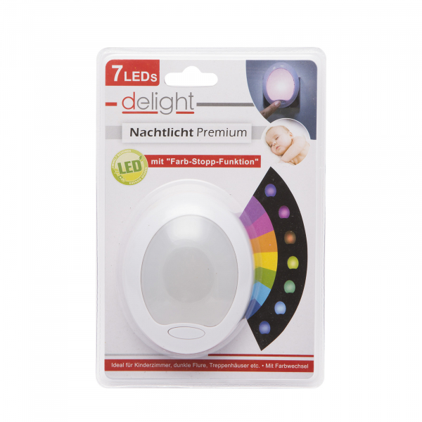 "Lumina de veghe LED cu colori alternante Premium ""Smooth"" - 7 LED, 8x10cm 3"