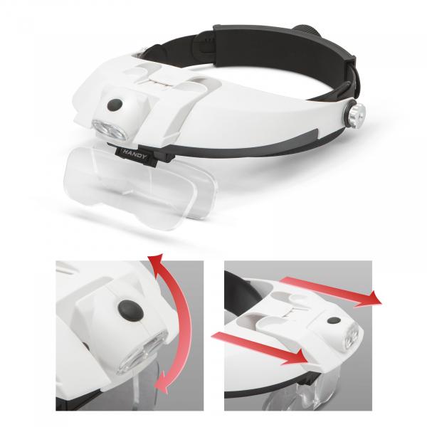 Lupa de cap cu iluminare LED, cu lentila dubla [3]