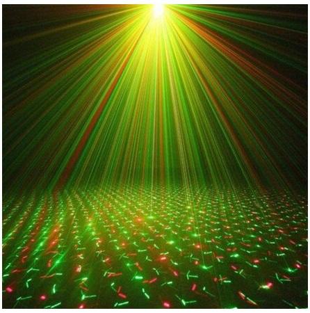 Mini proiector laser rosu / verde cu efecte reglabile 2