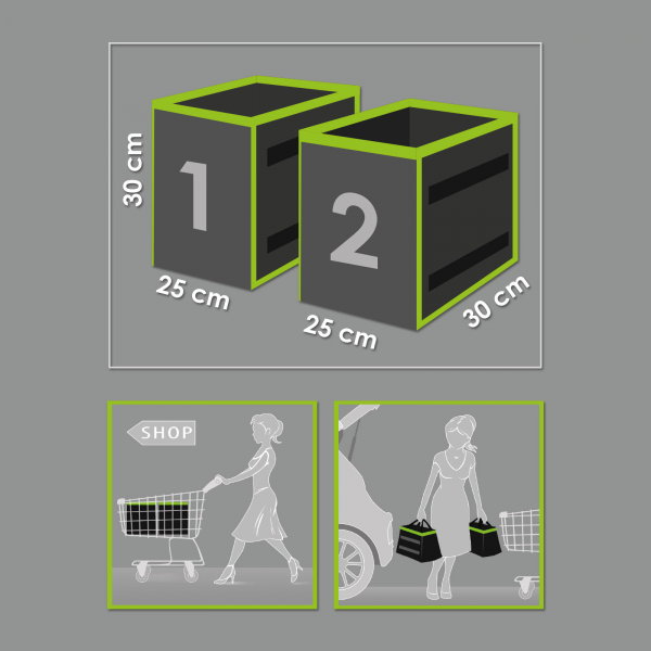 set organizator portbagaj auto - 2 buc. 25 x 30 x 30 cm 2