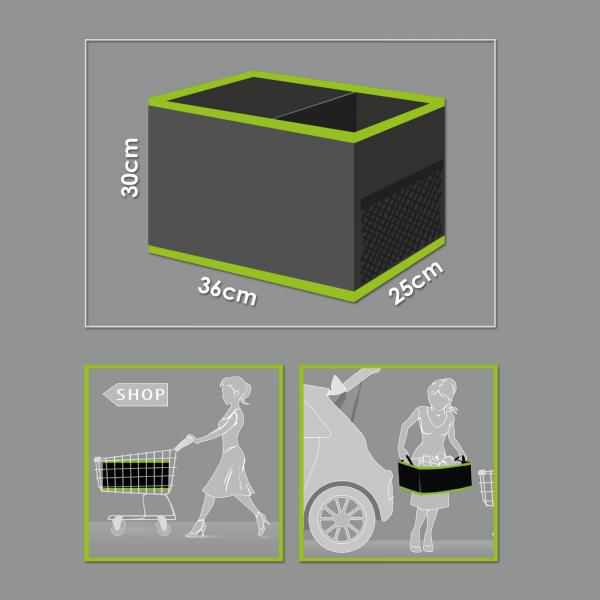 Organizator auto pentru portbagaj cu 2 compartimente 36 x 30 x 25 cm 2