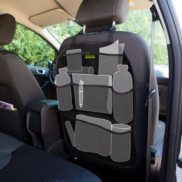 Organizator auto pentru spatarul scaunului - 6 buzunare 42 x 59 cm 1