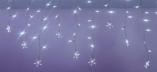 Perdea luminoasa tip turturi cu stele 100 LED-uri albe lumina rece cablu transparent WELL 0