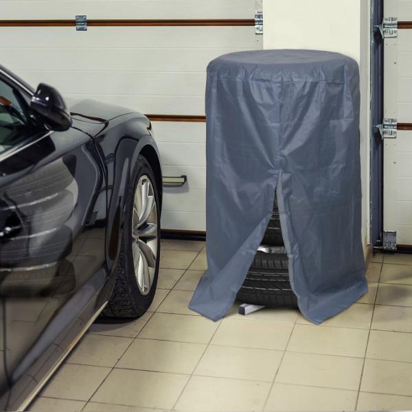 Prelată husa de protectie pentru set de roti auto - gri 1