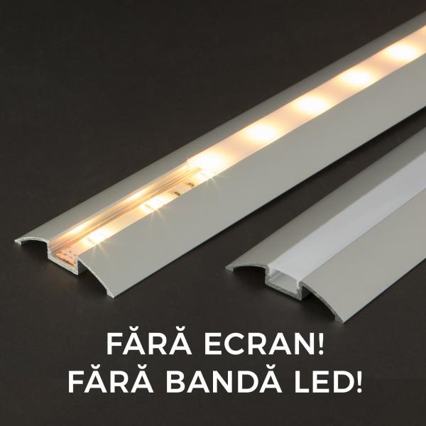 Profil aluminiu  benzi LED, 56x10 mm, 1m [0]