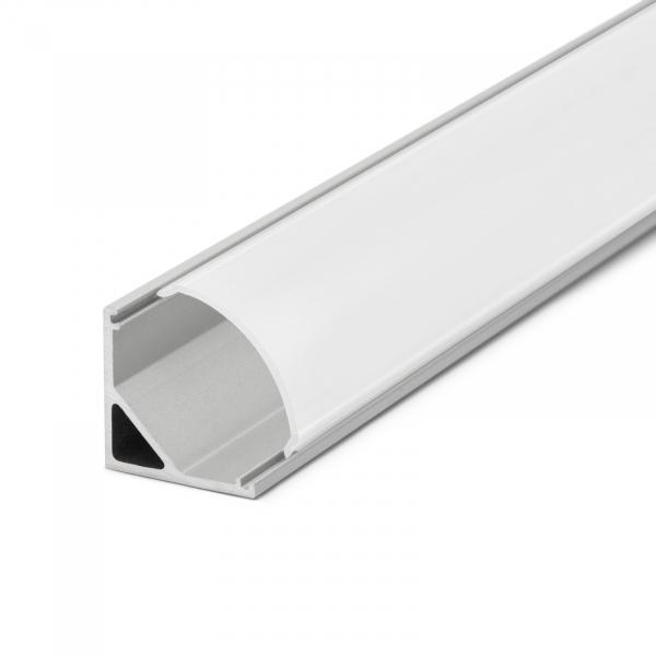Profil  din aluminiu benzi LED 1000x16x16mm - rotunjit 3