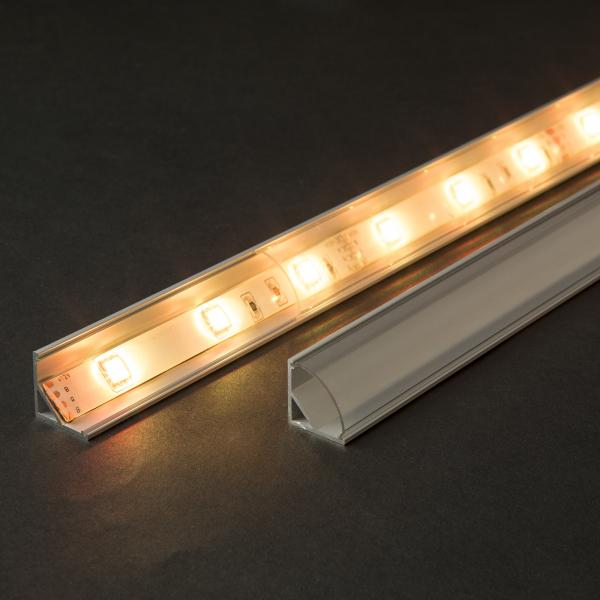 Profil  din aluminiu benzi LED 1000x16x16mm - rotunjit 1
