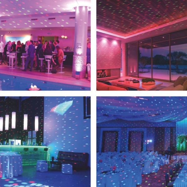 Proiector decorativ laser - cu tarus, verde/rosu - IP44 - 240V [3]