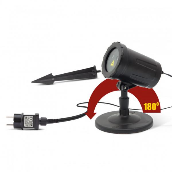 Proiector decorativ laser - cu tarus, verde/rosu - IP44 - 240V [2]