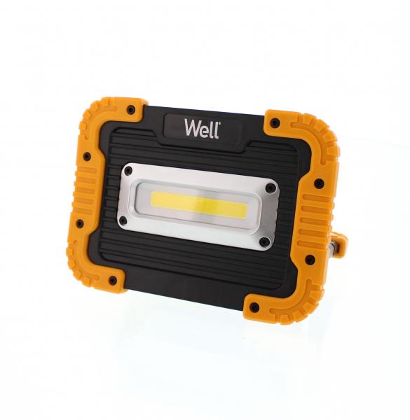 Proiector LED portabil cu baterie 4xAA 10W 600lm IP44 Well 0
