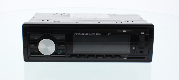 Radio auto cu slot USB si SD Bluetooth, preluare apeluri telefonice, 4x50W Well 0