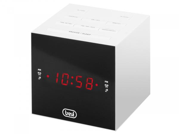 Radio cu ceas si alarma, display cu LED, RC 855C, alb, Trevi 0