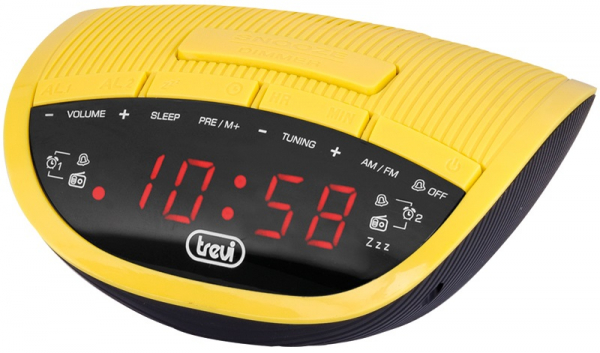 Radio cu ceas si alarma, RC 825D, galben, Trevi 0