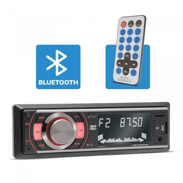 Radio player auto Gorilla - cu USB / SD card / AUX / Bluetooth si telecomanda 0
